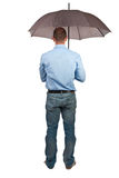 Man with umbrella Royalty Free Stock Images