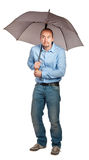 Man with umbrella Royalty Free Stock Photo
