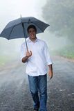 Man umbrella rain Royalty Free Stock Images