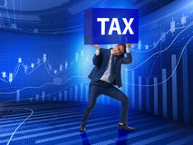 The man under the burden of tax payments Royalty Free Stock Photography