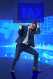 The man under the burden of tax payments Royalty Free Stock Photo