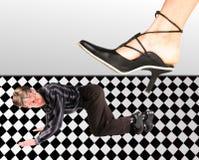 Man under the feet royalty free illustration