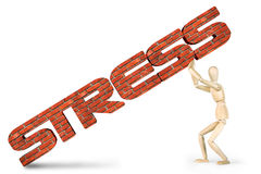 Man under pressure of stress Royalty Free Stock Photos
