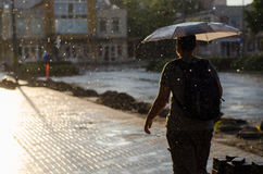 Man under rain Stock Photos