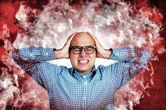 Man under the stress Stock Photography