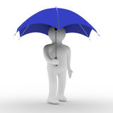 Man under umbrella. Royalty Free Stock Image