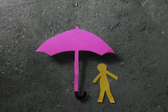 Man under umbrella Stock Photography