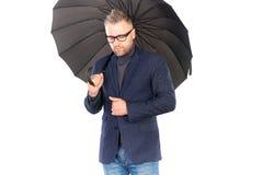 Man under umbrella Royalty Free Stock Photography