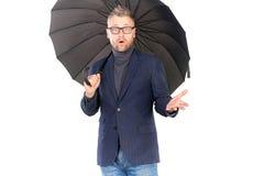 Man under umbrella Royalty Free Stock Image
