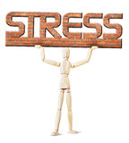 Man under the weight of stress Stock Image