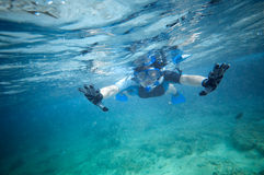 Man underwater Royalty Free Stock Images