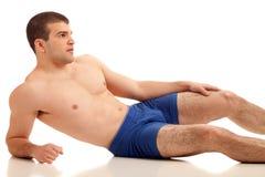 Man in Underwear Stock Images