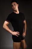Man in underwear. Young handsome man in sport underwear, studio shot Stock Photo
