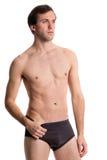 Man in Underwear Stock Photo