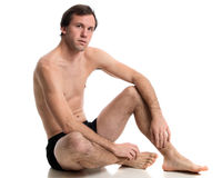 Man in Underwear Stock Image