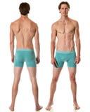 Man in Underwear. Studio shot over white Royalty Free Stock Photos