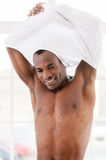 Man undressing. Royalty Free Stock Photos