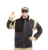 Man in uniform. Royalty Free Stock Photo