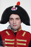 Man in uniform the Napoleonic soldier Stock Image