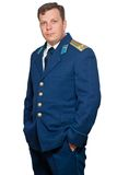 Man  in uniform of russian military air forces Stock Photo