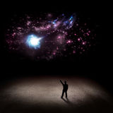 The man in the universe Royalty Free Stock Photography