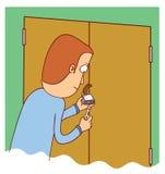 Man unlocking a door Royalty Free Stock Photos