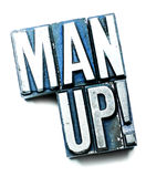 Man Up! Royalty Free Stock Photos