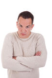 Man upset with his arms crossed Stock Photo