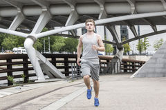 Man urban jogging Royalty Free Stock Photography