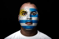 Man with Uruguay flag Stock Image