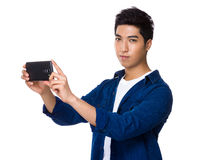 Man use cellphone for take photo Royalty Free Stock Images