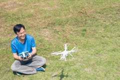 Man use drones Royalty Free Stock Photography