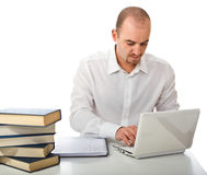 Man use laptop Royalty Free Stock Photo