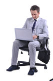 Man use laptop Royalty Free Stock Images