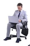 Man use laptop Royalty Free Stock Images