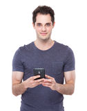 Man use mobile phone Royalty Free Stock Photos