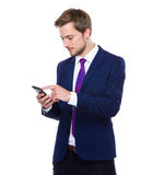 Man use mobile phone Stock Image