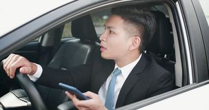 Man use navigation system royalty free stock photos