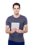 Man use of tablet Royalty Free Stock Photography