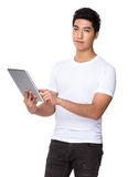 Man use of tablet Royalty Free Stock Image