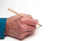 Man using a calligraphy brush Royalty Free Stock Photography