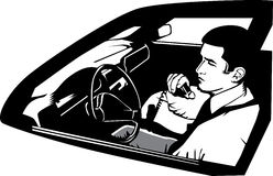 Man using a CB radio Stock Photos