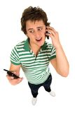 Man using cell phone Stock Photo