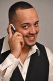 Man using cell phone. Stock Images