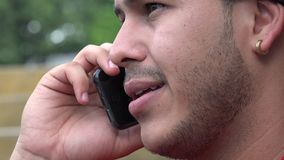 Man Using Cell Phone stock footage