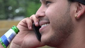 Man Using Cell Phone stock video footage