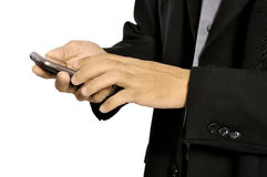 Man Using Cellphone Royalty Free Stock Photos