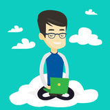 Man using cloud computing technology. Royalty Free Stock Images
