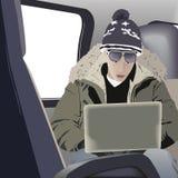 Man using computer Stock Image