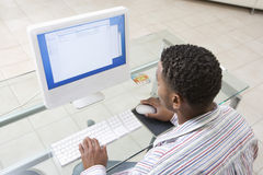 Man Using Computer Royalty Free Stock Image